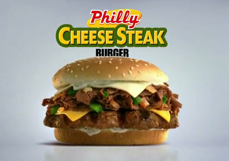 Carl's Jr. Philly Cheesesteak Burger