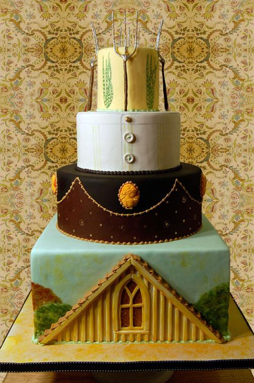 American Gothic Wedding Cake