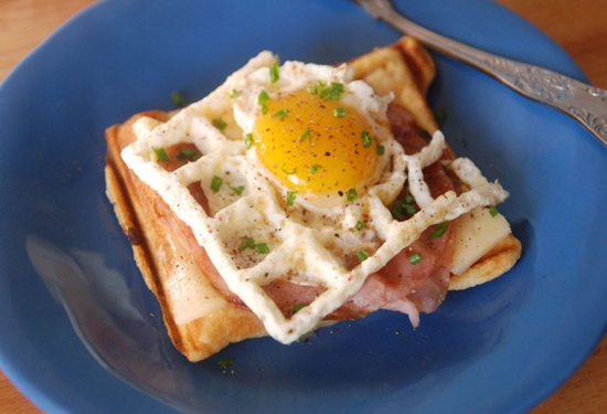 How To Cook Eggs in a Waffle Iron | Foodiggity