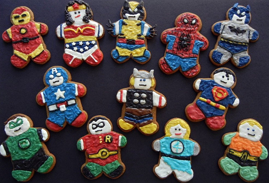 Superhero Gingerbread Men  Foodiggity