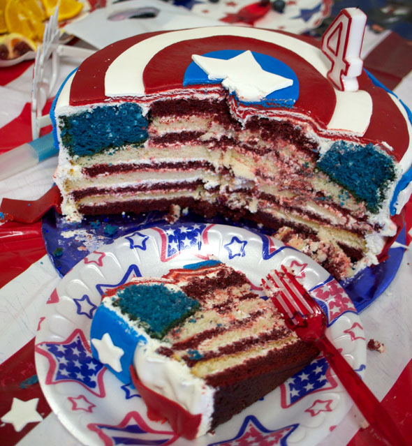 Captain America Cakes Ideas