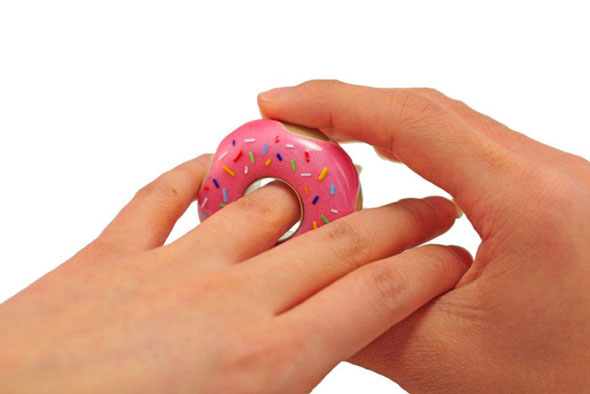 Pink Glazed Doughnut Engagement Ring With Sprinkles