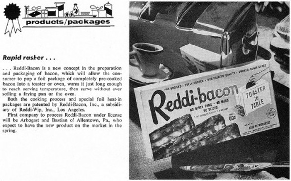 Reddi Bacon Real Bacon That Cooks In Your Toaster
