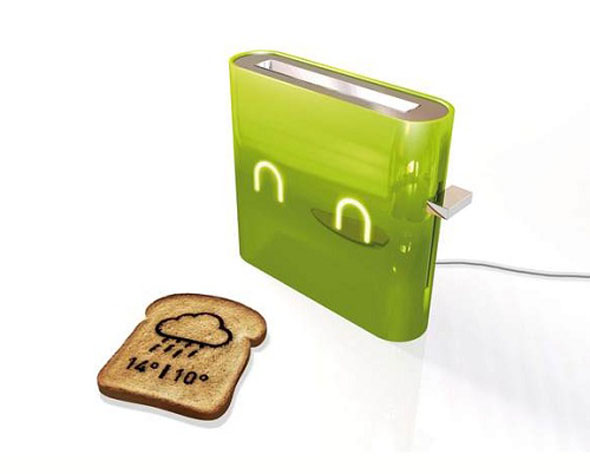 A Toaster That Will Print The Weather Report On Your Toast