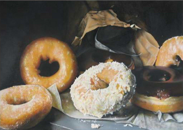 Just The Most Realistic Paintings of Donuts Ever | Foodiggity