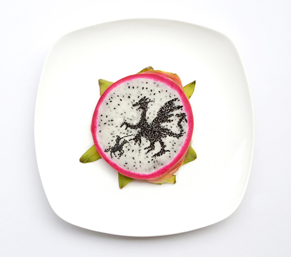 Saw a dragon in my dragon fruit today