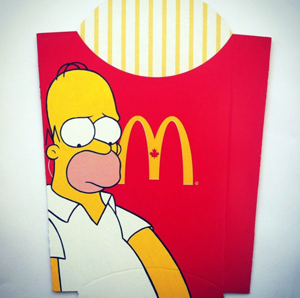 Pop Culture Paintings On Mcdonald S Fries Foodiggity