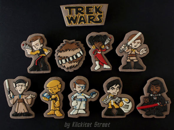 KlickitatStreet Star Trek Star Wars Mashup Quogs