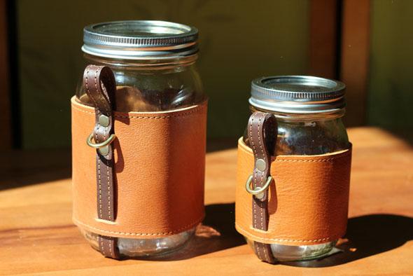 The Chug A Lug Turns A Mason Jar Into A Beautiful Leather