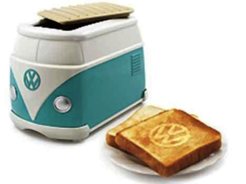 volkswagen minibus toaster burns vw logo on toast foodiggity. Black Bedroom Furniture Sets. Home Design Ideas