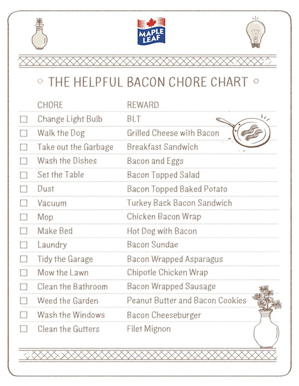 bacon-chore-list