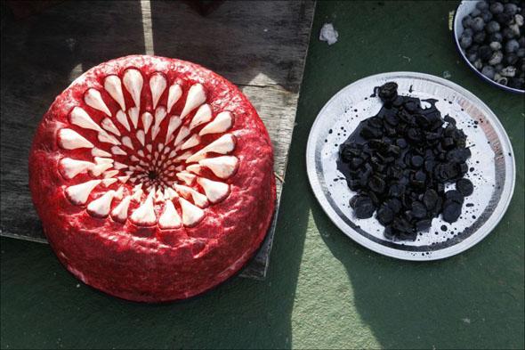 White Tentacle Cake