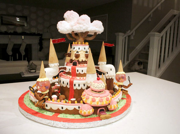 An Adventure Time Candy Kingdom Gingerbread House Foodiggity