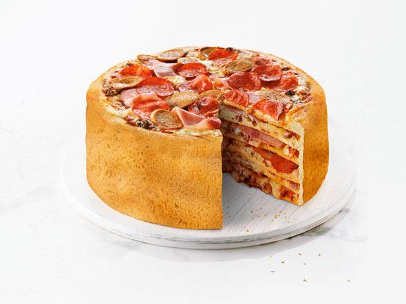 Layered Pizza Cake