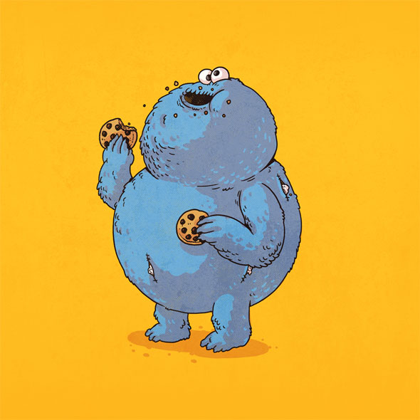 Cartoon Characters Named Alex : Famous chunkies pop culture characters get fat foodiggity