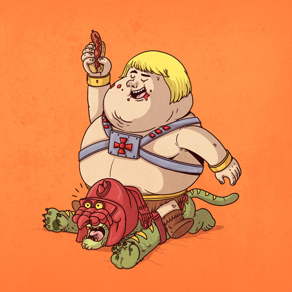 Famous Chunkies Pop Culture Characters Get Fat Foodiggity