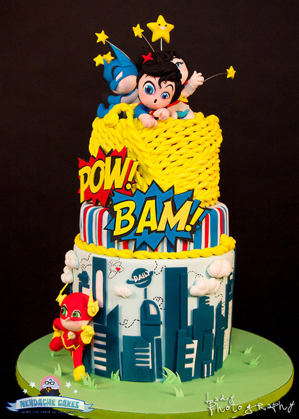 Marvel Comic Cake Decorations