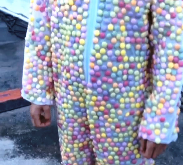 Watch This Guy Wearing A Mentos Suit Get Dunked In Diet