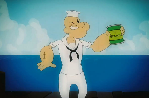 Realistic Popeye Shows Us What Really Happens When You Eat