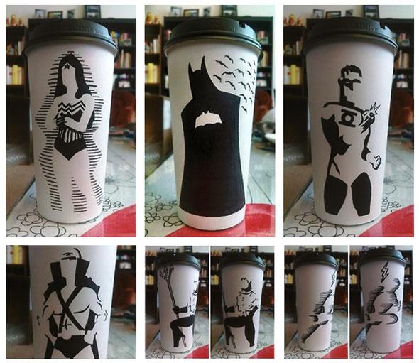 coffee cup art