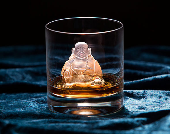 Laughing Buddha Ice Molds Will Enlighten Any Drink