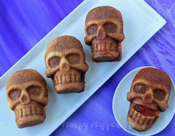 gross-Halloween-food-skull-shaped-pizzas-