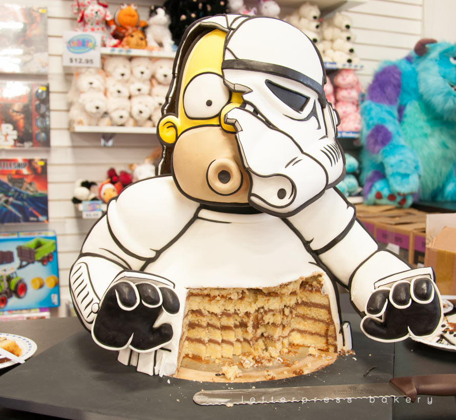 Homer Simpson As A Stormtrooper Cake Foodiggity