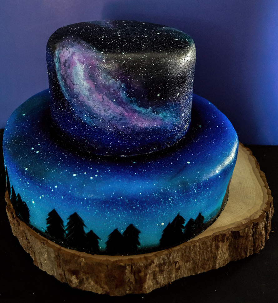 galaxy-wedding-cake